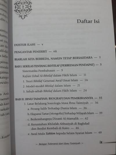 Buku Belajar Toleransi Dari Ibnu Taimiyah Daftar Isi
