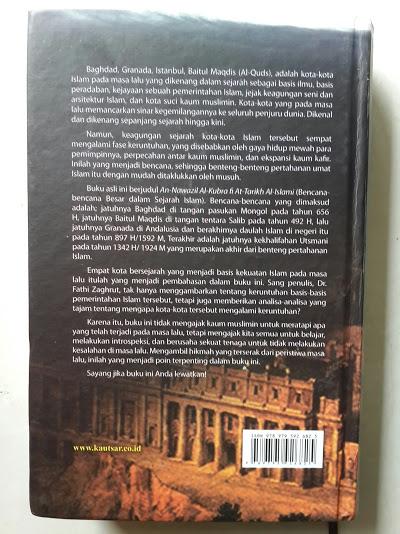 Buku Bencana Bencana Besar Dalam Sejarah Islam Cover Belakang