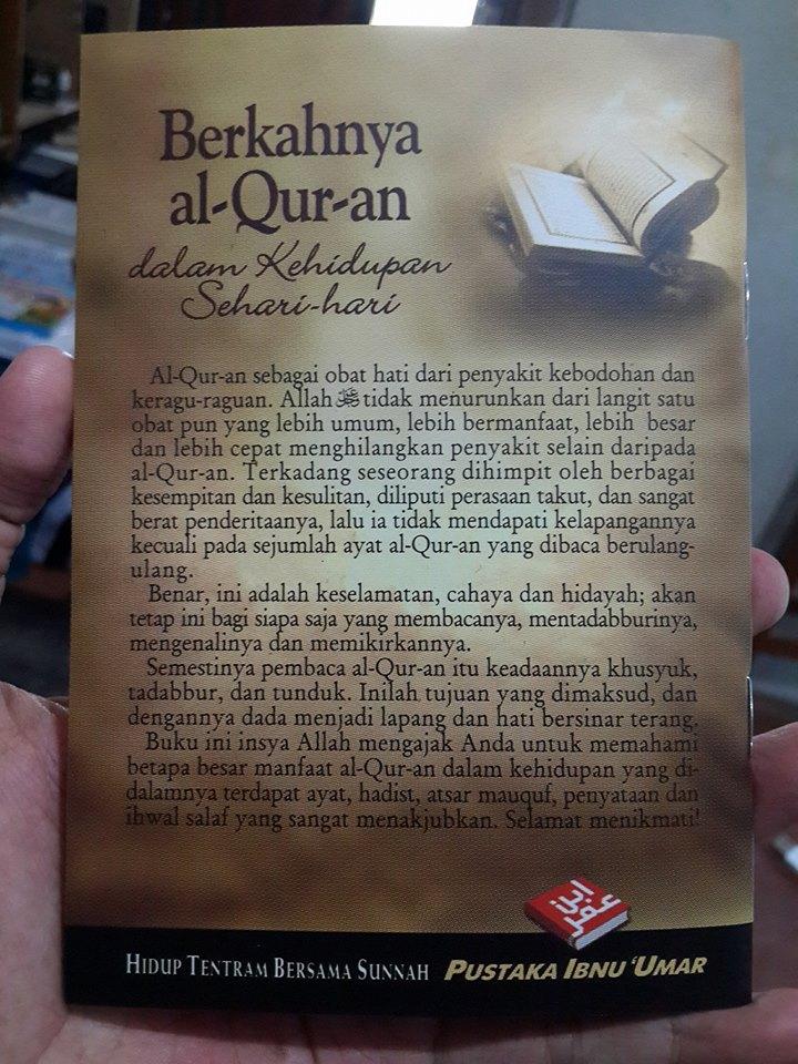 Buku Saku Berkahnya Al-Qur'an Dalam Kehidupan Cover 2
