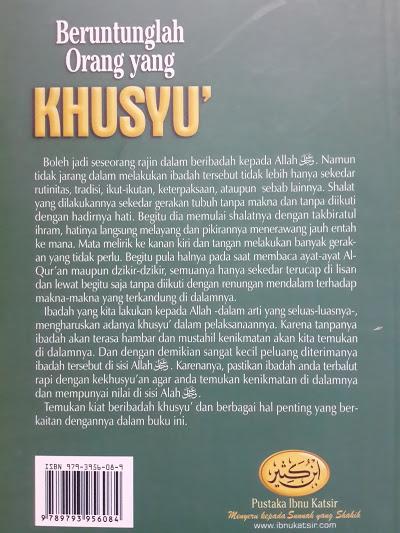 Buku Beruntunglah Orang Yang Khusyuk Cover 2