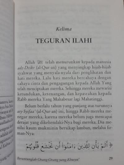 Buku Beruntunglah Orang Yang Khusyuk Isi