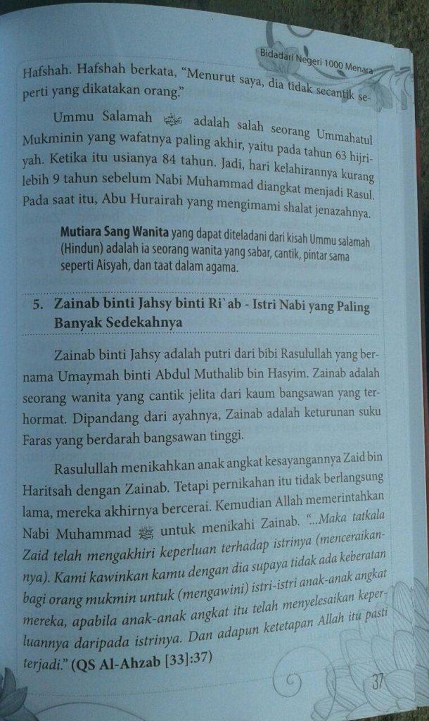 Buku Bidadari Negeri 1000 Menara isi 3