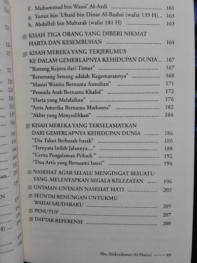 Buku Bila Dunia Menjadi Tujuan Hidup Daftar Isi