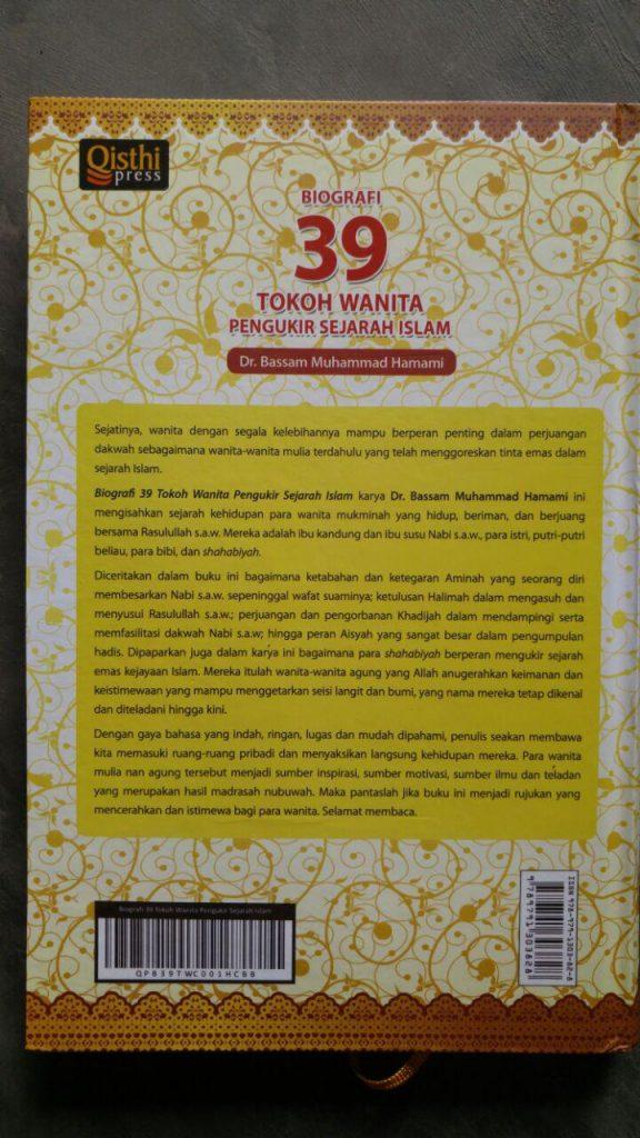 Buku Biografi 39 Tokoh Wanita Pengukir Sejarah Islam cover 2