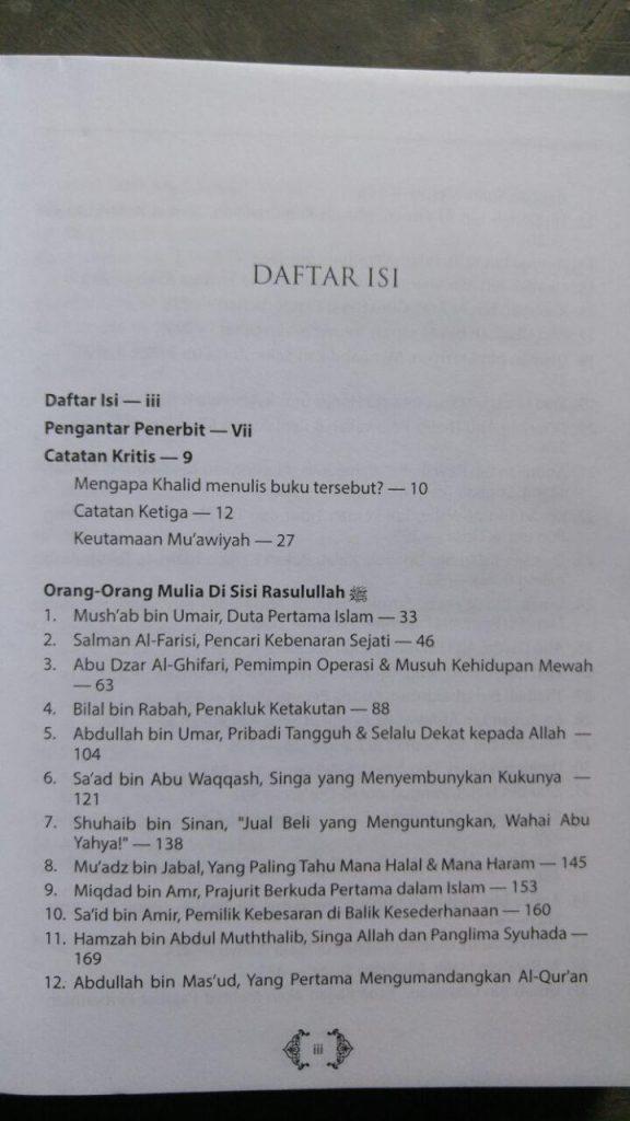 Buku Biografi 60 Sahabat Nabi Versi Tahqiq isi