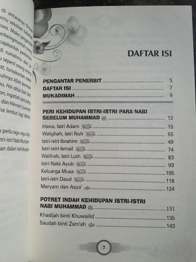 Buku Biografi Istri Istri Para Nabi Daftar Isi