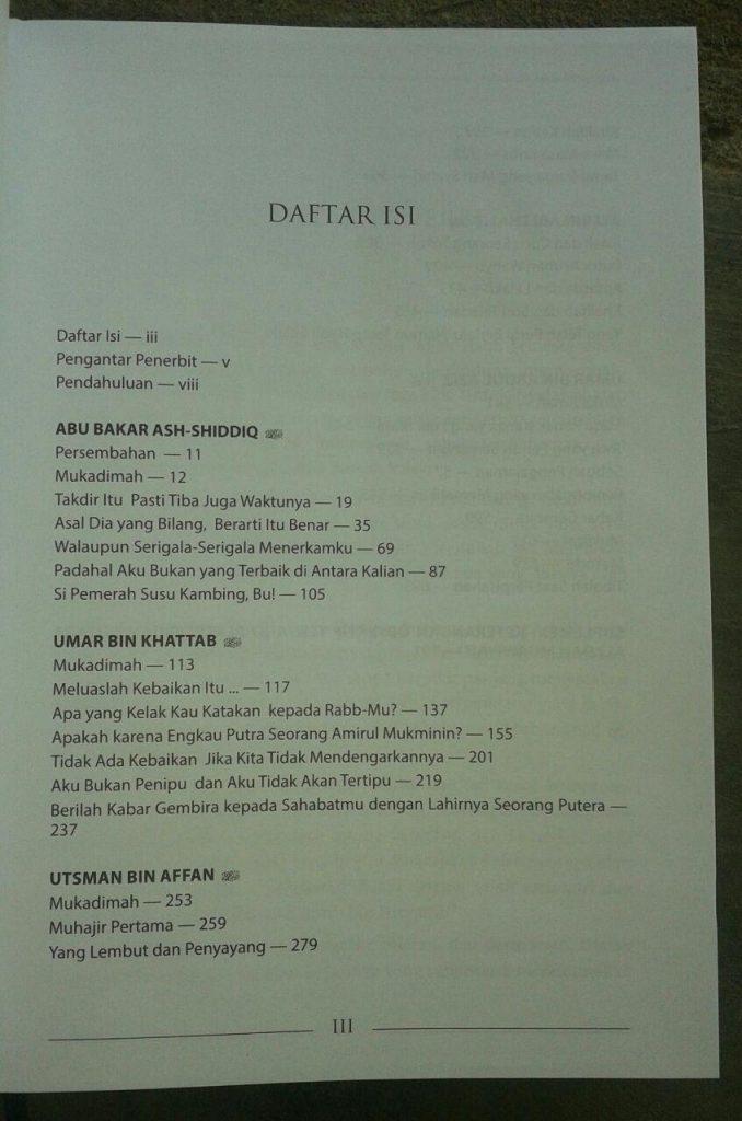 Buku Biografi Khalifah Rasulullah isi 3