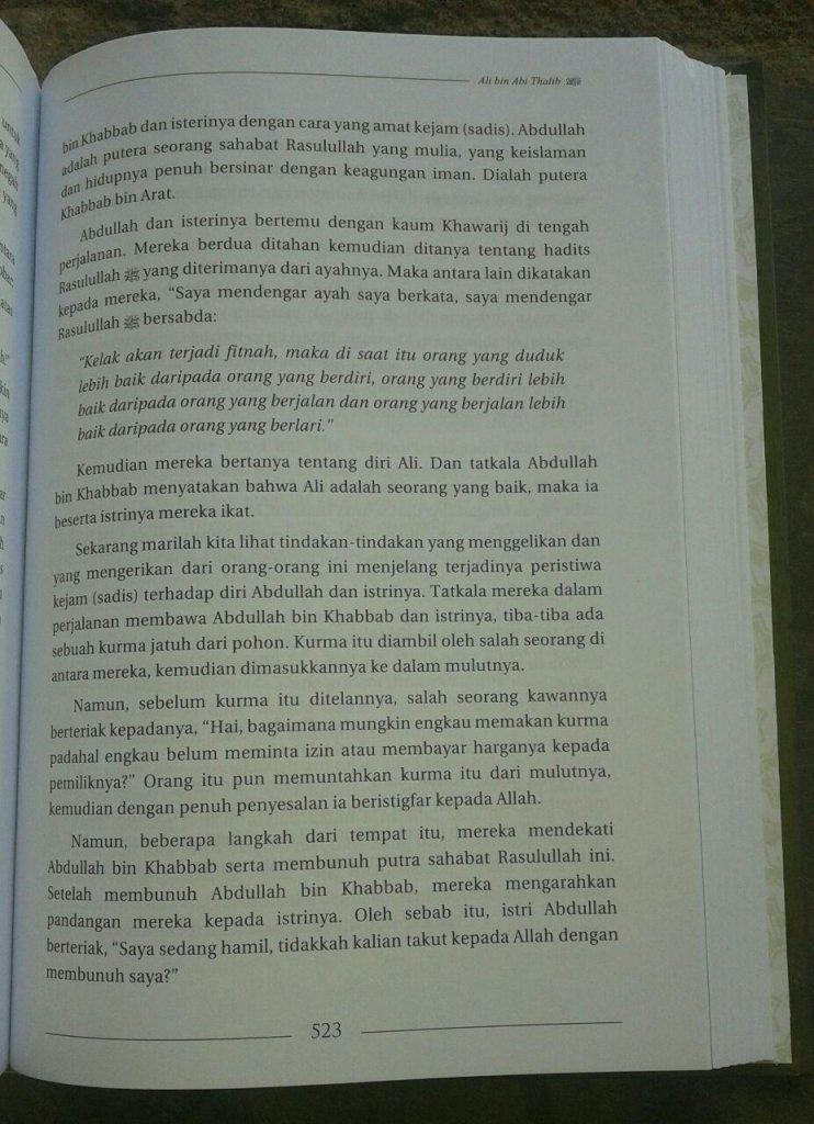 Buku Biografi Khalifah Rasulullah isi