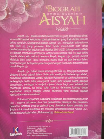 Buku Biografi Ummul Mukminin Aisyah Cover 2