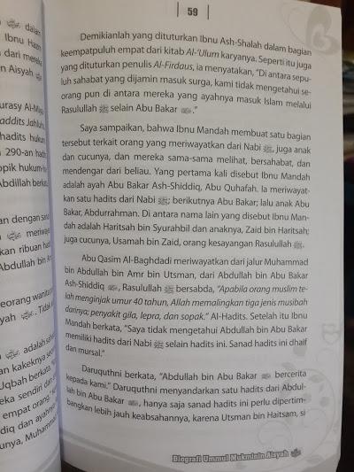 Buku Biografi Ummul Mukminin Aisyah Isi