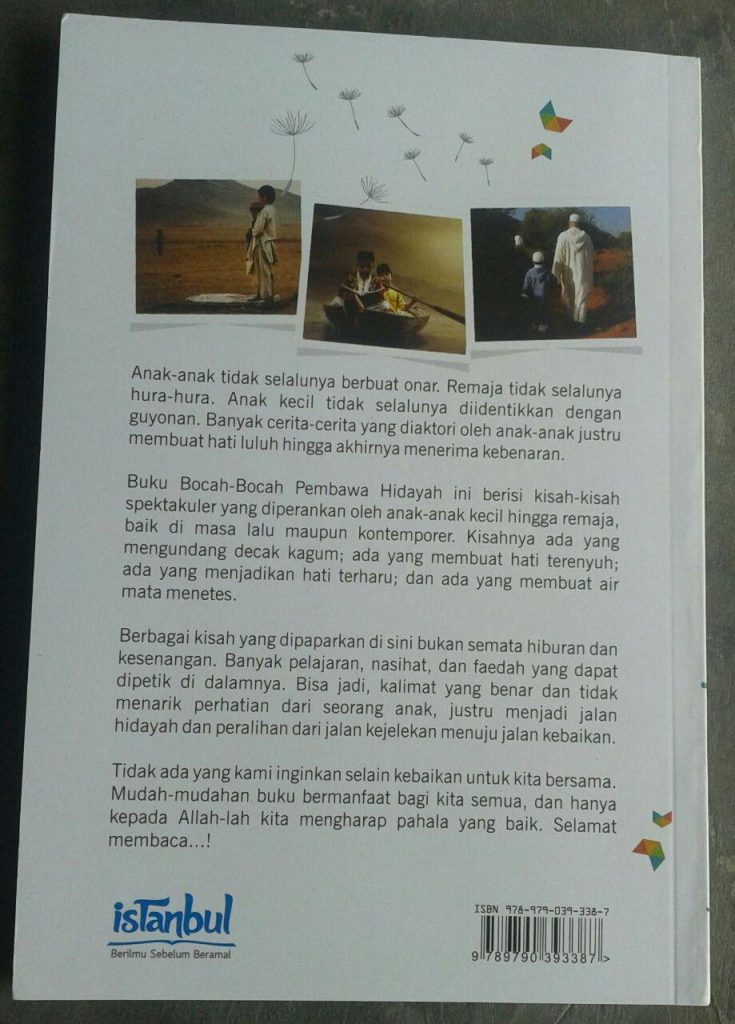 Buku True Story Bocah-Bocah Pembawa Hidayah cover 2
