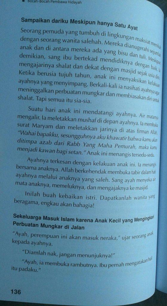 Buku True Story Bocah-Bocah Pembawa Hidayah isi