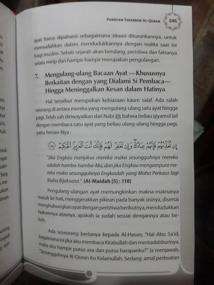 buku panduan tadabbur al-quran isi