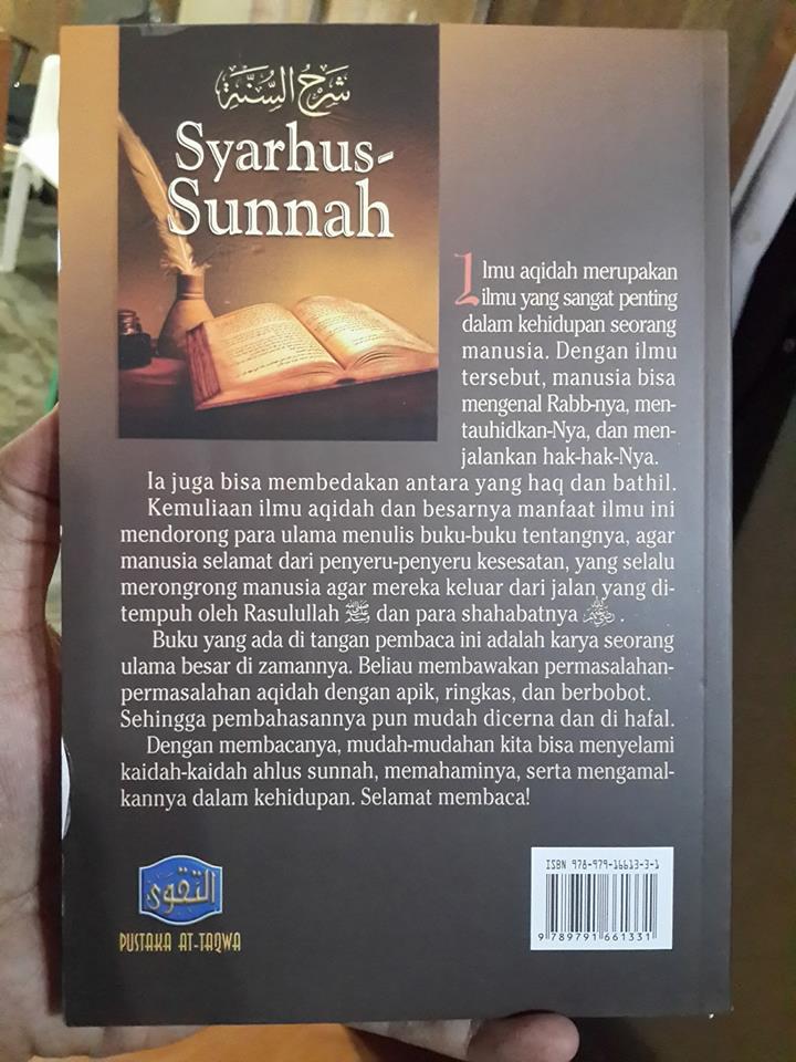 Buku Syarhus Sunnah Panduan Meniti Jalan Kebenaran Cover 2