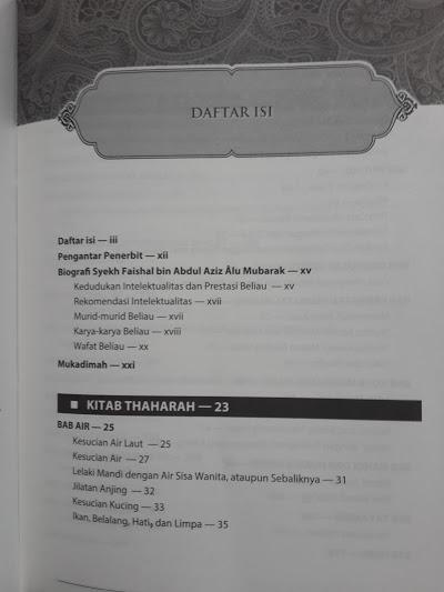 Buku Bulughul Maram Dan Penjelasannya Daftar Isi
