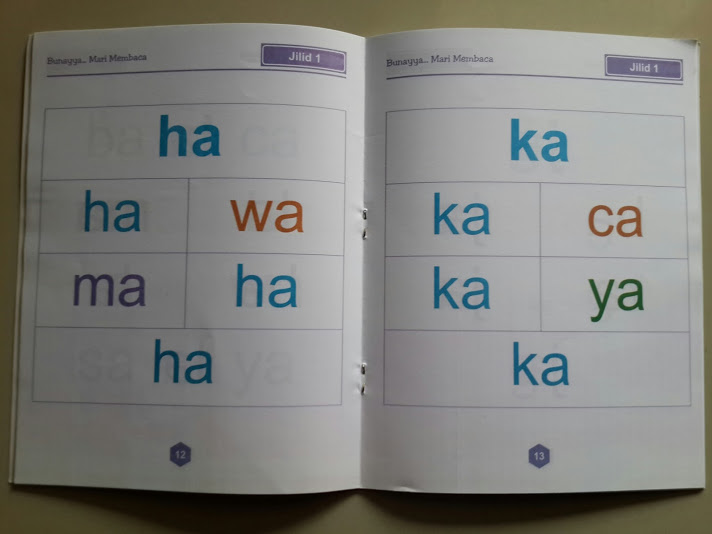 Buku Anak Bunayya Mari Membaca Isi