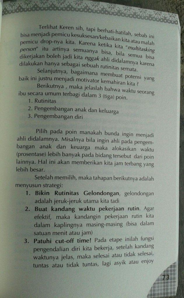 Buku Bunda Cekatan 12 Ilmu Dasar Manajemen Rumah Tangga isi 2