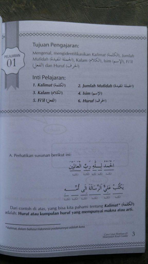 Buku Cara Cepat Membaca Dan Menerjemah Kitab Gundul Ankabut isi