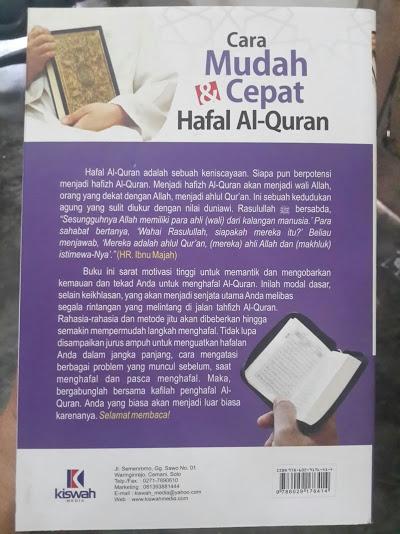Buku Cara Mudah Dan Cepat Hafal Al-Quran Cover Belakang