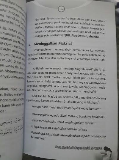 Buku Cara Mudah Dan Cepat Hafal Al-Quran Isi