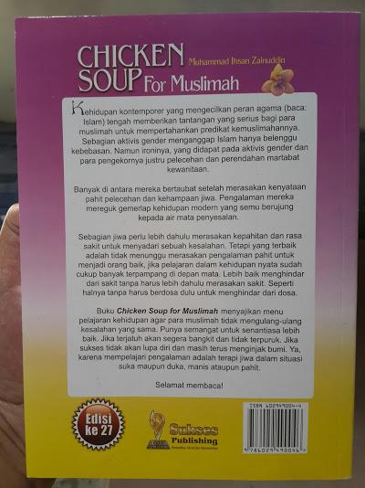 Buku Chicken Soup For Muslimah Cover Belakang