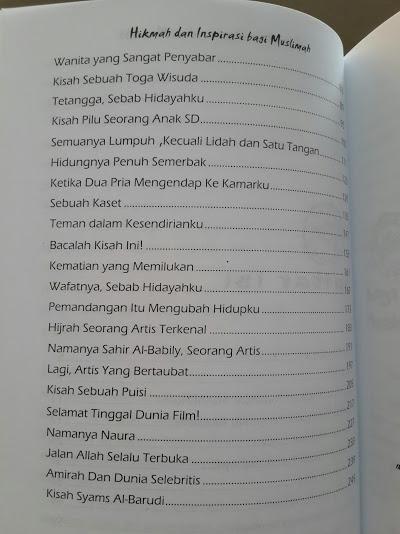 Buku Chicken Soup For Muslimah Daftar Isi