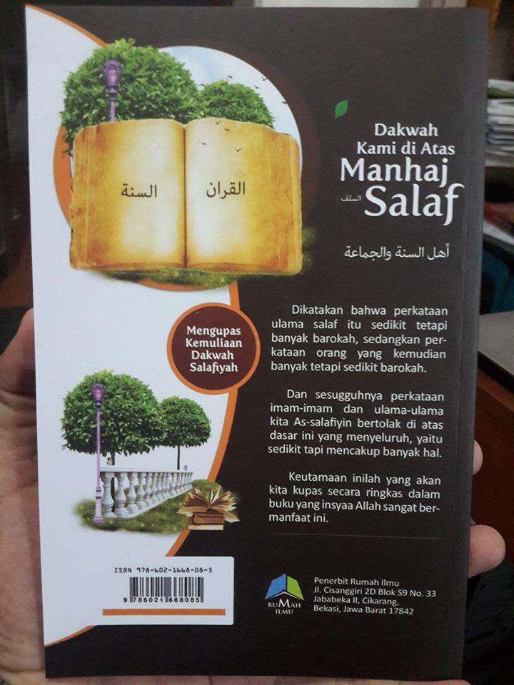 Buku Dakwah Kami Di Atas Manhaj Salaf Cover 2