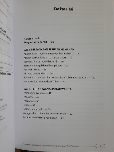 Buku Debat Islam Vs Non Islam Argumen Cerdas Zakir Naik Daftar Isi