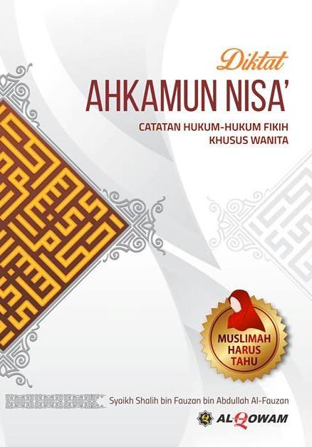 Buku Diktat Ahkamun Nisa Catatan Fikih Khusus Wanita Cover
