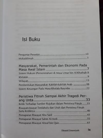 Buku Dinasti Umawiyah Daftar Isi