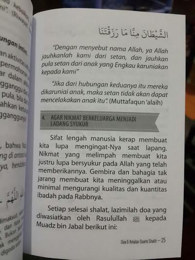 Buku Saku Doa Dan Amalan Suami Sholih Isi 2