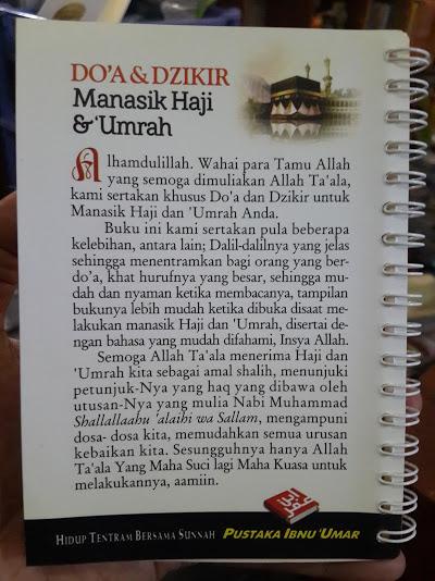 Buku Doa Dan Dzikir Manasik Haji dan Umrah Cover Belakang
