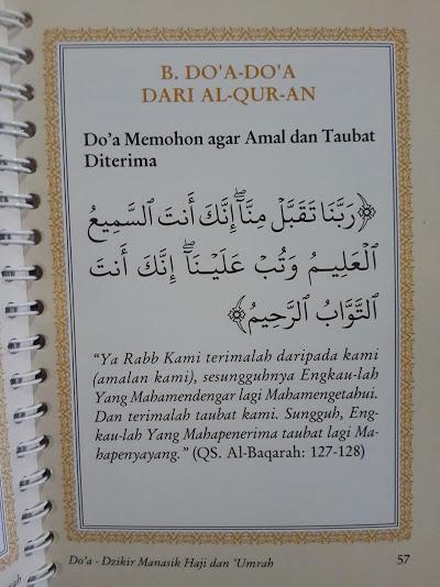 Buku Doa Dan Dzikir Manasik Haji dan Umrah Isi