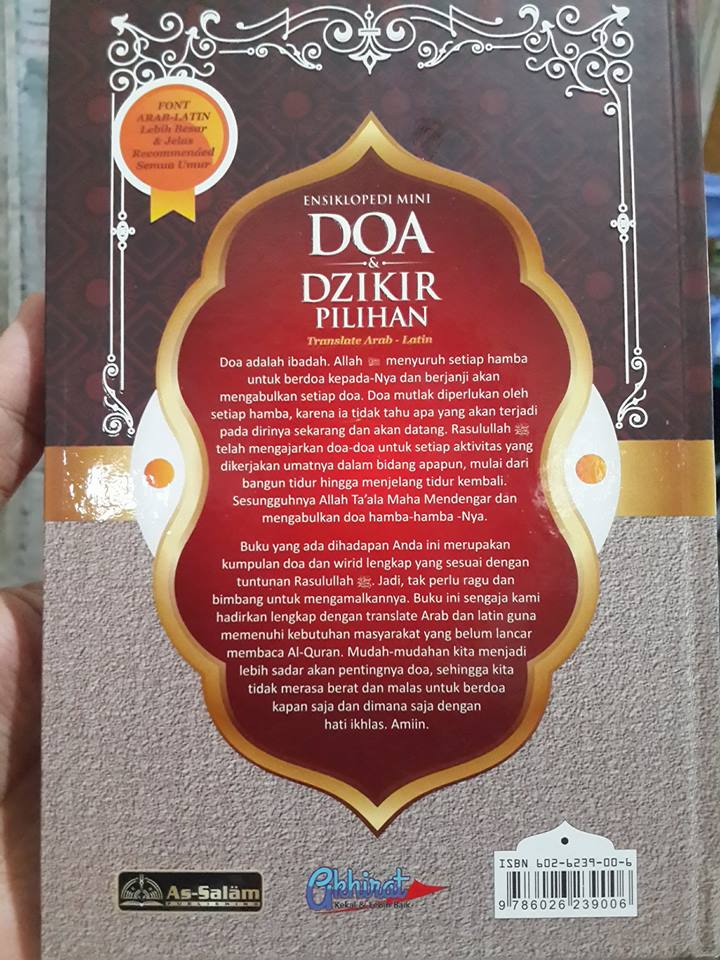 doa dan dzikir pilihan translate arab latin buku cover 2