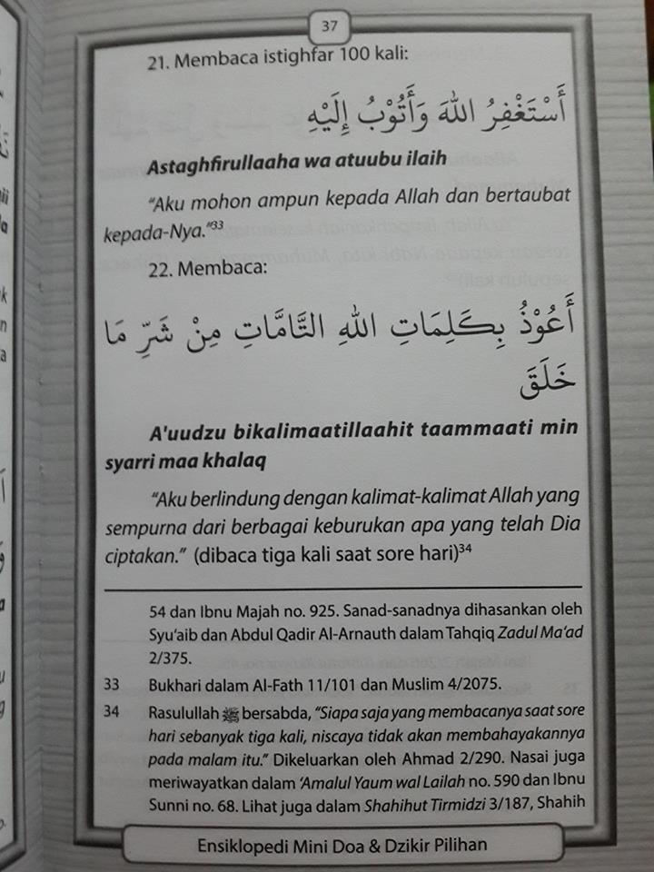 doa dan dzikir pilihan translate arab latin buku isi 2