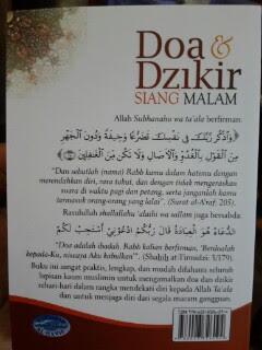 Buku Saku Doa Dan Dzikir Siang Malam Cover Belakang