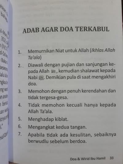 Buku Saku Doa Dan Wirid Ibu Hamil Isi 2