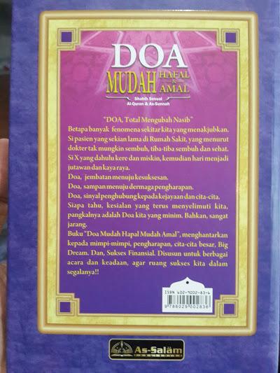Buku Doa Mudah Hafal Dan Amal Sesuai Quran Sunnah Cover 2