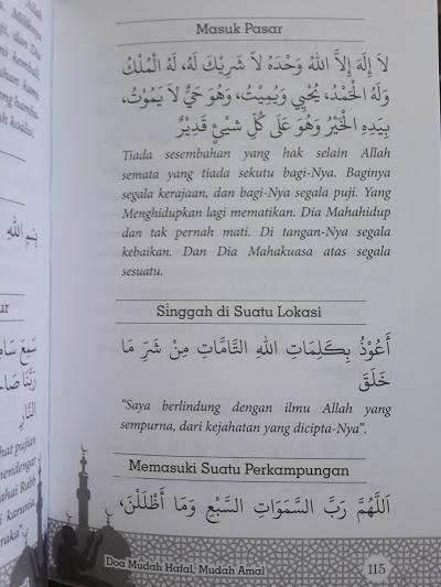 Buku Doa Mudah Hafal Dan Amal Sesuai Quran Sunnah Isi