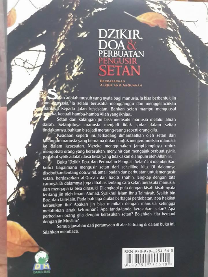dzikir doa dan perbuatan pengusir setan buku cover 2
