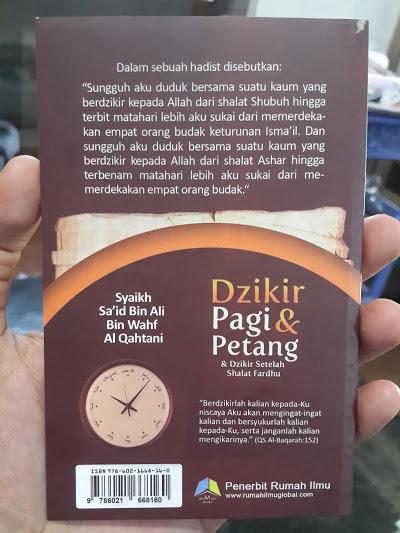 Buku Saku Dzikir Pagi Petang Dzikir Setelah Shalat Fardhu Cover 2