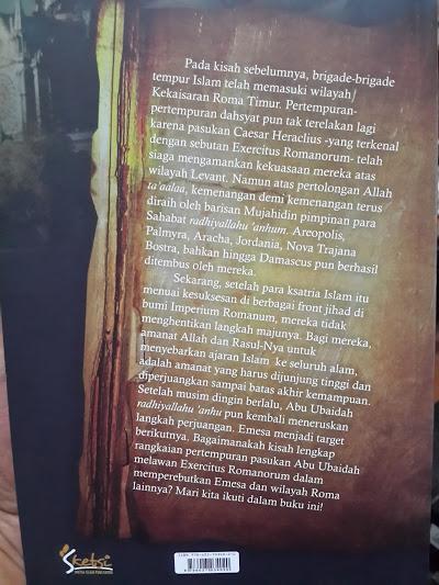 Buku Emesa Pertarungan Ksatria Islam Dengan Ksatria Roma Cover 2