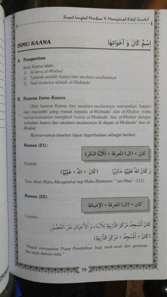 Buku Empat Langkah Membaca Dan Menerjemah Kitab Gundul isi 2