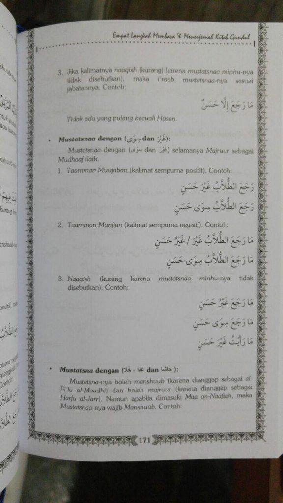 Buku Empat Langkah Membaca Dan Menerjemah Kitab Gundul isi