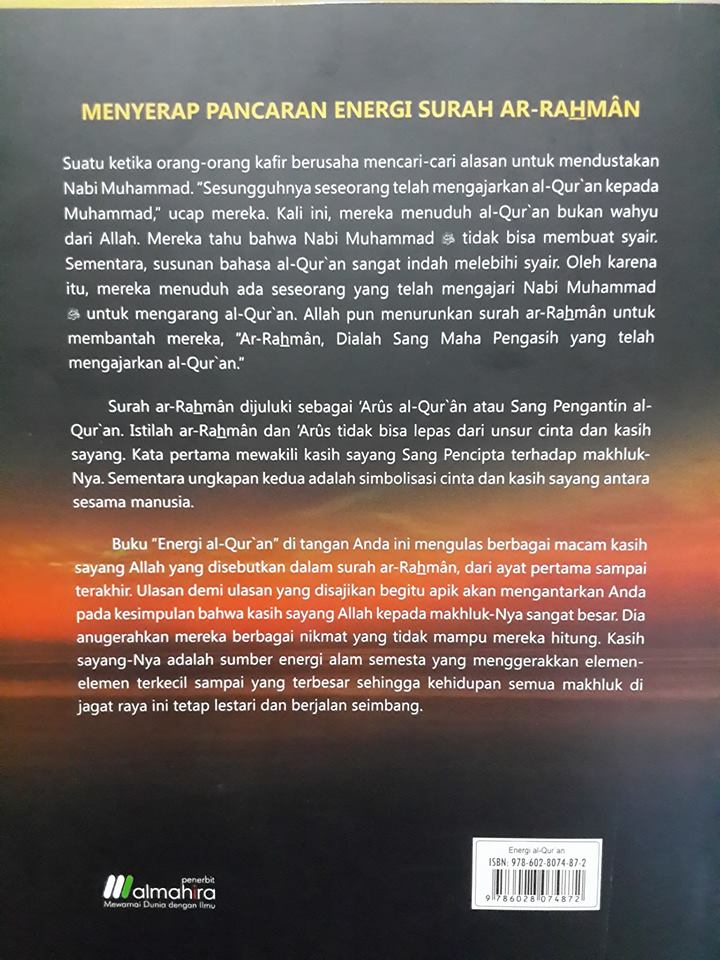 Buku Energi Al-Qur'an Mengungkap Keagungan Energi Cinta Cover 2