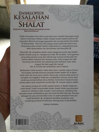 Buku Ensiklopedi Kesalahan Dalam Shalat Cover Belakang