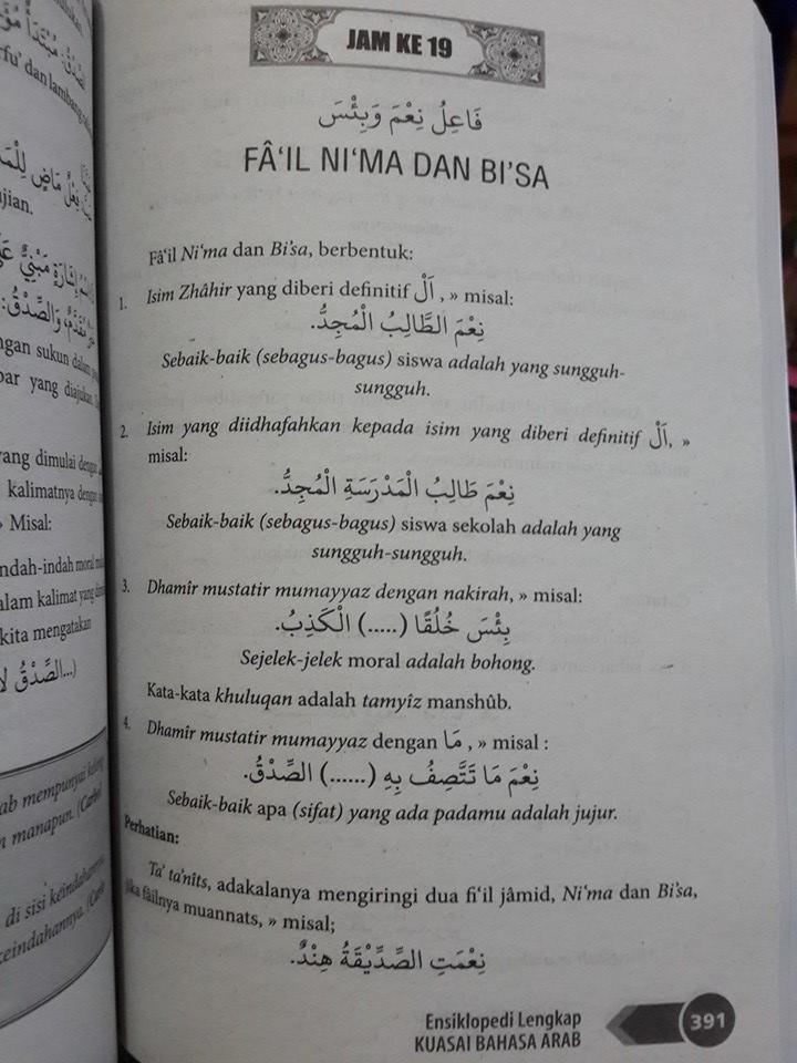 Buku Ensiklopedi Lengkap Kuasai Bahasa Arab Isi