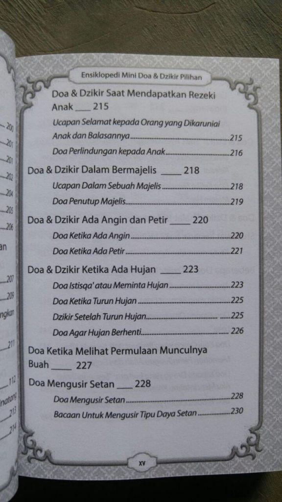 Buku Saku Ensiklopedi Mini Doa & Dzikir Pilihan isi