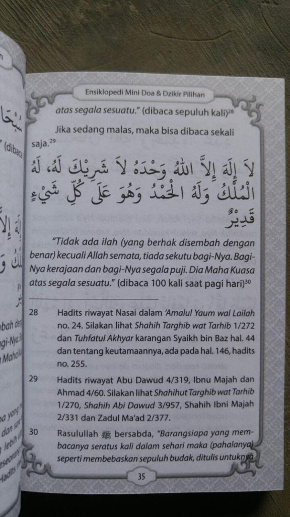 Buku Saku Ensiklopedi Mini Doa & Dzikir Pilihan isi 2