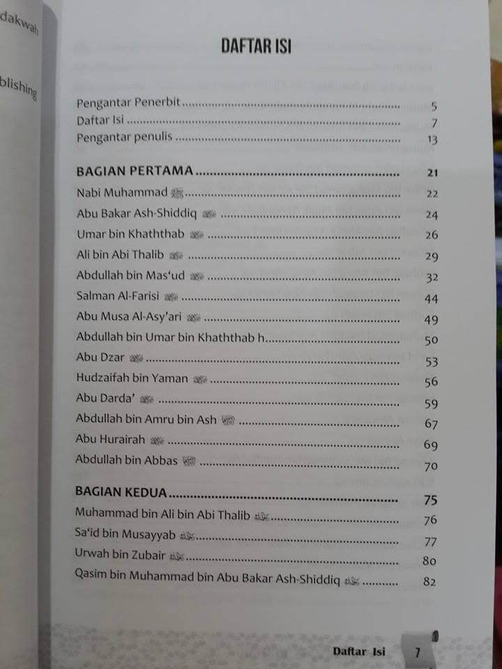Buku Ensiklopedia Hikmah Kisah Salaf Daftar Isi